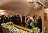 Предстоятель Русской Церкви поклонился святыням Спасо-Прилуцкого Димитриева монастыря в Вологде