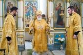 В праздник Собора Белорусских святых Патриарший экзарх всея Беларуси совершил Литургию в Свято-Духовом кафедральном соборе Минска