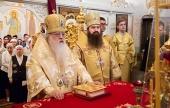В праздник Собора Белорусских святых почетный Патриарший экзарх всея Беларуси возглавил престольный праздник домового храма Минского епархиального управления
