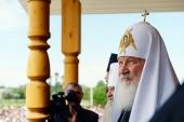Святіший Патріарх Кирил відвідав храм великомучениці Варвари в Череповці