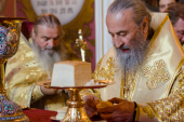В Неделю 4-ю по Пятидесятнице Предстоятель Украинской Православной Церкви совершил Литургию в Киево-Печерской лавре