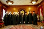 Члены Синода Украинской Православной Церкви встретились со Святейшим Патриархом Константинопольским Варфоломеем