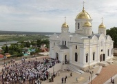 Патриарший наместник Московской епархии освятил Преображенский собор и Никитский храм в подмосковной Кашире