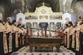 В Киево-Печерской лавре почтили память священномученика Владимира (Богоявленского)