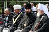 Представители Русской Православной Церкви посетили митинг-реквием в Тростенце