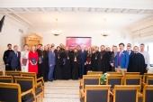 Состоялось вручение дипломов выпускникам Общецерковной аспирантуры