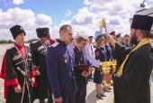 Духовник Первого казачьего университета принял участие в церемонии вручения дипломов его выпускникам