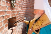 Митрополит Минский Павел заложил Успенский храм в агрогородке Колодищи Минской области