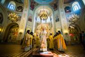 В день памяти Германа Казанского глава Татарстанской митрополии совершил Литургию в Свияжском монастыре у мощей святителя