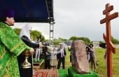 Святейший Патриарх Кирилл освятил закладной камень в основание Богородице-Рождественского кафедрального собора Мурома