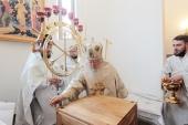 Митрополит Крутицкий Ювеналий освятил храм святителя Василия Рязанского в подмосковной деревне Протекино