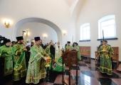 Святіший Патріарх Кирил освятив надбрамний храм святих апостолів Петра і Павла у Валаамському монастирі