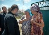 Епископ Ейский Герман встретился с пострадавшими от града жителями Тимашевского района