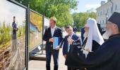 Святейший Патриарх Кирилл посетил фотовыставку, открытую у стен Валаамского монастыря