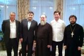 Митрополит Астанайский Александр встретился с министром общественного развития Казахстана Д.А. Калетаевым