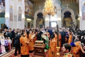 Святейший Патриарх Кирилл посетил Храм-памятник на Крови в Екатеринбурге