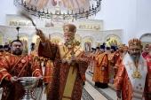 Предстоятель Русской Церкви освятил храм в честь Феодоровской иконы Божией Матери в монастыре Новомучеников и исповедников Церкви Русской в Алапаевске