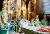 В день памяти преподобного Сергия Радонежского Святейший Патриарх Кирилл совершил Литургию в Троице-Сергиевой лавре