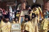 Столетие освящения Патриархом Тихоном Казанского храма в монастыре на Горушке отметили в Рыбинской епархии