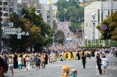 Верующим Украинской Православной Церкви блокируют выезд на крестный ход в Киеве