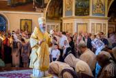 В Неделю 9-ю по Пятидесятнице Предстоятель Украинской Православной Церкви возглавил Литургию в Киево-Печерской лавре