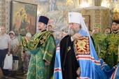 В день памяти пророка Божия Илии глава Казахстанского митрополичьего округа совершил Литургию в Троицкой церкви Христорождественского собора Алма-Аты
