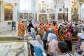 В день памяти великомученика Пантелеимона Патриарший экзарх всея Беларуси совершил Литургию в Свято-Духовом соборе Минска