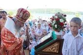 Митрополит Киевский Онуфрий возглавил богослужение на территории оздоровительного центра при Банченском монастыре Черновицкой епархии