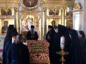 Управляющий делами Московской Патриархии ознакомился с ходом реставрации Рождество-Богородичного монастыря на острове Коневец