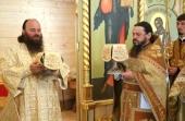 На строящемся московском подворье Иосифо-Волоцкого ставропигиального монастыря освящен Успенский храм