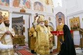 В Неделю 11-ю по Пятидесятнице Патриарший экзарх всея Беларуси совершил Литургию в Спасо-Евфросиниевском монастыре города Полоцка
