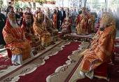 Митрополит Киевский Онуфрий возглавил богослужение в Аннинском женском монастыре на Буковине