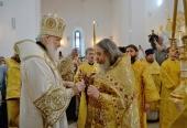 Святейший Патриарх Кирилл освятил храм Новомучеников и исповедников Российских в районе Строгино г. Москвы