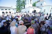 Патриарший наместник Московской епархии возглавил торжества в Спасском храме в подмосковном поселке Андреевка и освятил епархиальный Центр помощи семье и детям