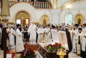 Святейший Патриарх Кирилл совершил отпевание заслуженного строителя России, православного мецената И.А. Найвальта