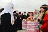 Sanctitatea Sa Patriarhul Chiril a sosit la Naryan-Mar