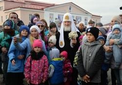 Святейший Патриарх Кирилл посетил Никольский храм на Новой Земле