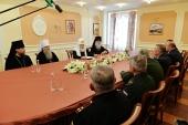 На Новой Земле Святейший Патриарх Кирилл встретился с представителями Министерства обороны России