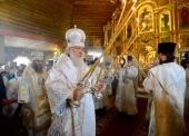 Святейший Патриарх Кирилл совершил Литургию в Богоявленском кафедральном соборе Нарьян-Мара