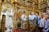 В канун праздника Преображения Господня Святейший Патриарх Кирилл совершил всенощное бдение в соборе праведного Прокопия Устюжского в Великом Устюге