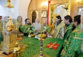 Предстоятель Русской Церкви совершил Литургию в Соловецком монастыре и возглавил хиротонию архимандрита Ипатия (Голубева) во епископа Анадырского и Чукотского