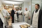 Патриарший экзарх всея Беларуси освятил помещения предприятия «Платина-груп» в Минске