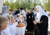 Святейший Патриарх Кирилл совершил чин великого освящения храма блаженной Матроны Московской в Дмитровском г. Москвы