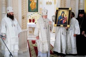 Патриаршая проповедь после Литургии в храме блаженной Матроны Московской в Дмитровском г. Москвы