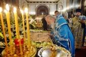 В канун праздника Успения Божией Матери Святейший Патриарх Кирилл совершил всенощное бдение в Храме Христа Спасителя