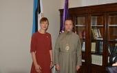 Президент Эстонии посетила Нарвское епархиальное управление