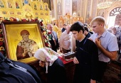 В Краснодаре мощам святителя Спиридона Тримифунтского поклонились более 85 тысяч верующих