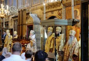 Патриаршая проповедь в праздник Собора Московских святых в Успенском соборе Московского Кремля