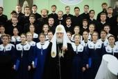 Святейший Патриарх Кирилл посетил в Санкт-Петербургской духовной академии вечер памяти, посвященный 40-летию со дня кончины митрополита Никодима (Ротова)