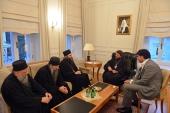 Митрополит Волоколамский Иларион встретился с игуменом Хиландарского монастыря на Святой Горе Афон